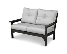Black & Canvas Granite Vineyard Deep Seating Settee