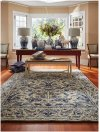 Martha's Vineyard '03 Cream Blue Hand Tufted Rugs
