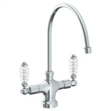 """Deck Mounted 1 Hole Kitchen Faucet With 9 3/4"""" Spout"""