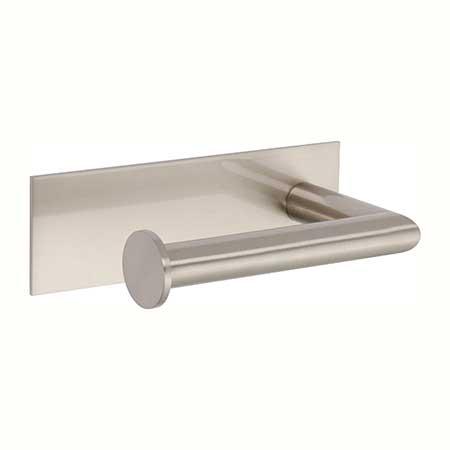 Satin Nickel Open Toilet Tissue Holder - Left