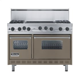 "Stone Gray 48"" Sealed Burner Self-Cleaning Range - VGSC (48"" wide, four burners & 24"" wide char-grill)"