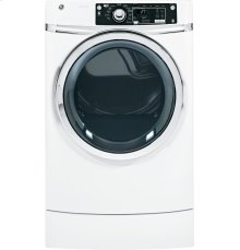 GE® 8.1 cu. ft. capacity RightHeight Design Front Load gas dryer with steam