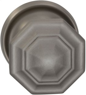Interior Traditional Knob Latchset in (US15 Satin Nickel Plated, Lacquered)