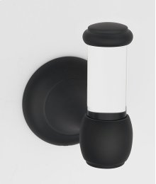 Acrylic Royale Robe Hook A7381 - Matte Black