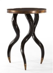 Faux Horn Ebony Chairside Table