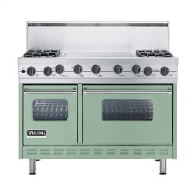 "Sage 48"" Sealed Burner Self-Cleaning Range - VGSC (48"" wide, four burners & 24"" wide griddle/simmer plate)"