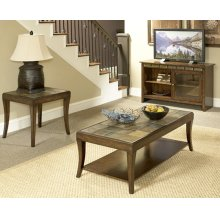 Mahogany Slate Coffee & End Table Set