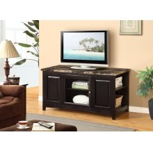 CHERRY ARTIFICIAL MARBLE TOP TV STAND