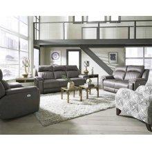 Power Headrest Console Sofa w/ Arm Cupholders