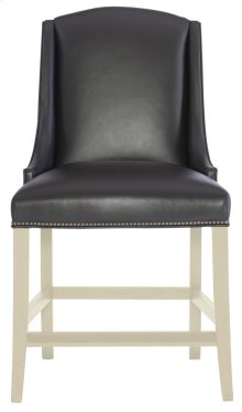 Slope Leather Counter Stool in Chalk
