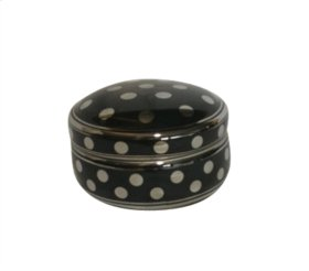 Black/silver Polka Dot Box 5""