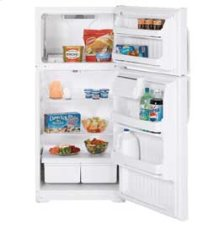 MTS18CBEWW - White on White Moffat 18.2 Cu.Ft. Top-Freezer, Frost-Free Refrigerator
