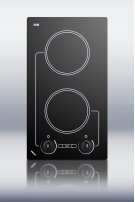 240V two burner cooktop with black ceramic glass surface Product Image