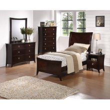 "Forte ""Cherry"" 5-Pc. Twin Bedroom Set - Bed, Dresser, Mirror, Nightstand, Chest"