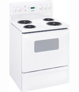 "MCBS525RWW - White on White Moffat 30"" Free Standing Electric Standard Clean Range"