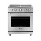 "30"" Heritage Gas Epicure Range, Silver Stainless Steel, Natural Gas Product Image"