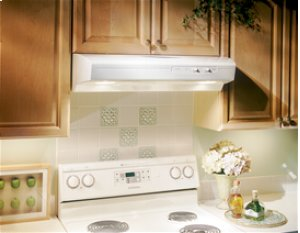 """[CLEARANCE] 30"""", White-on-White, Under Cabinet Hood, 220 CFM. Clearance stock is sold on a first-come, first-served basis. Please call (717)299-5641 for product condition and availability."""