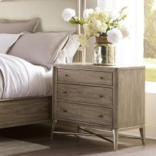 Sophie - Three Drawer Nightstand - Natural Finish