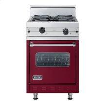 "Burgundy 24"" Wok/Cooker Companion Range - VGIC (24"" wide range with wok/cooker, single oven)"
