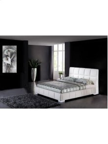 Queen Bed White - Black