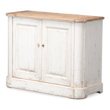 Antique White Wash Sideboard, 2 Door