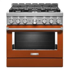 KitchenAidKitchenAid® 36'' Smart Commercial-Style Gas Range with 6 Burners - Scorched Orange