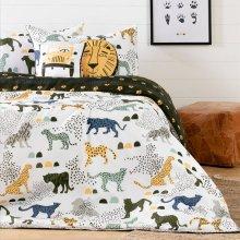 Kids Bedding set: Comforter, Pillowcase and decorative cushions Safari Wild Cats - 54''