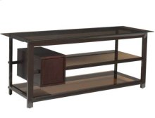Audio Video Stand Tempered-glass shelves - fits AV components and TVs up to 65""