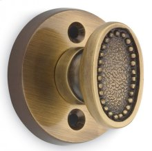 Traditional Oval Beaded Turnpiece - Solid Brass in MB (MaxBrass® PVD Plated)