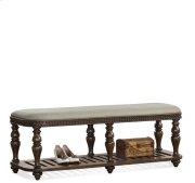 Belmeade Upholstered Bed Bench Old World Oak finish Product Image