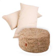 Pillow Pod Footstools - Faux Fur - Tan