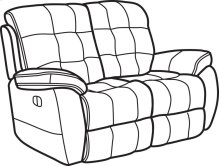 Nashua Fabric Power Reclining Loveseat