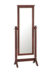 "Contemporary ""Merlot"" Cheval Mirror - overpacked"