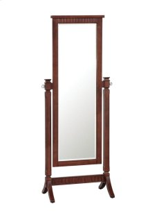"""Contemporary """"Merlot"""" Cheval Mirror - overpacked Product Image"""