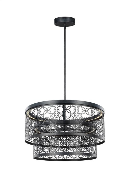 24 Inch Two-tier Outdoor LED Pendant