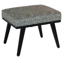 Serengetti Grey Leopard Accent Stool