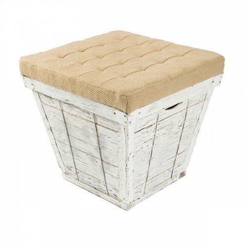 Square White Storage Crate