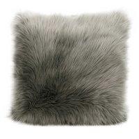 "Fur Fl101 Silver Grey 1'10"" X 1'10"" Throw Pillows Product Image"