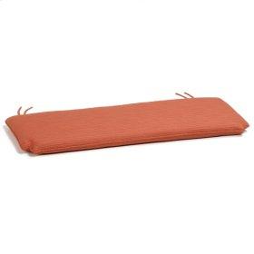 4' Bench Cushion - Dupione Papaya