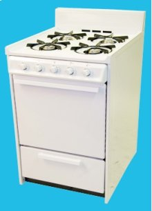 "24"" Gas Range Mono-Chromatic White"
