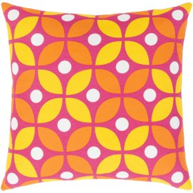 "Miranda MRA-014 22"" x 22"" Pillow Shell with Polyester Insert"