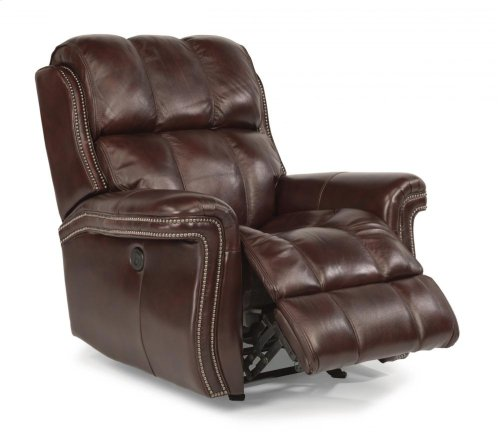 Challenger Leather Power Gliding Recliner