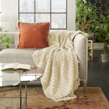 "Life Styles Gt037 Cream 50"" X 60"" Throw Blanket"