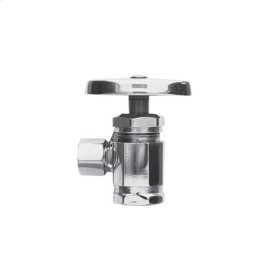 "Polished Nickel - Natural Angle Valve, 1/2"" IPS"