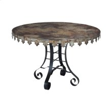 Reclaimed Tin 47-inch Bistro Table