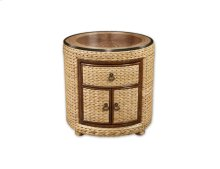 Round Lamp Table, Available in Natural Abaca Finish Only.