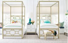 Chelsea by Rachael Ray Metal Canopy Bed Twin, 3/3