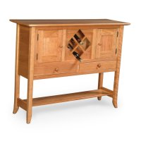 Shaker Hill Open Sideboard with Wine Rack Product Image