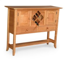 Shaker Hill Open Sideboard with Wine Rack