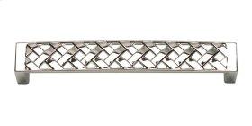 Lattice Pull 5 1/16 Inch (c-c) - Polished Nickel
